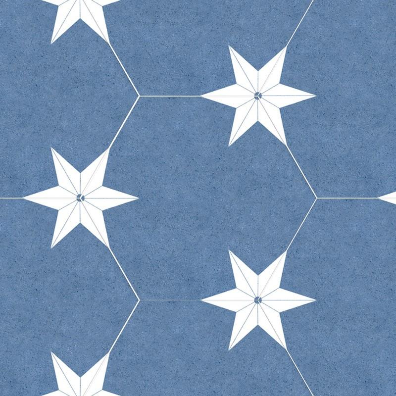 PORCELANICO STAR BLUE 22X25